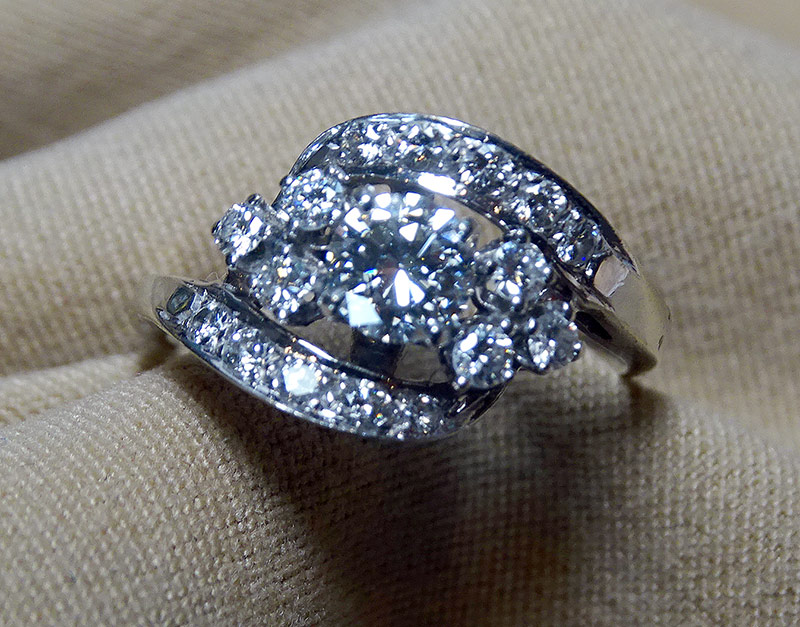 217. Diamond Dinner Ring in 14K White Gold | $1,003