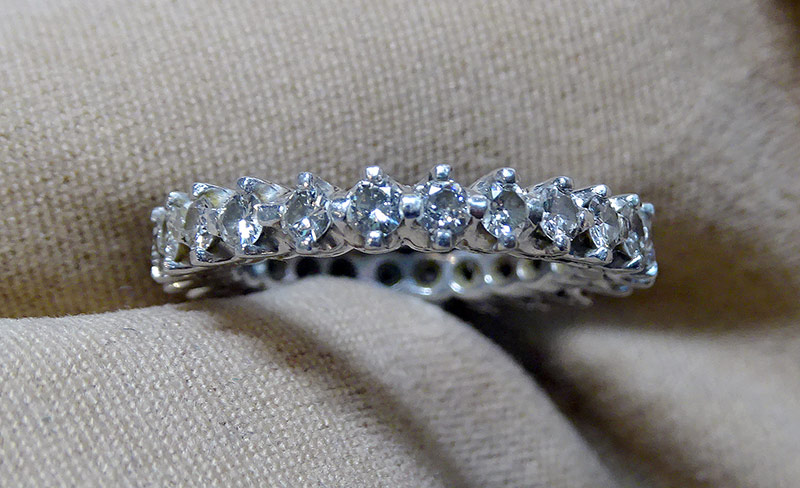 224. Diamond Eternity Band in Platinum | $442.50