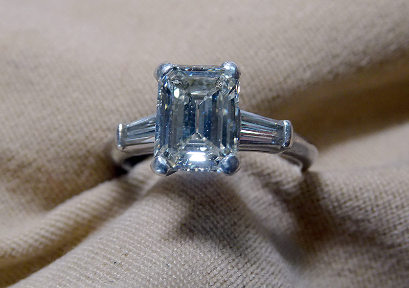 225. Diamond Engagement Ring in Platinum | $3,540