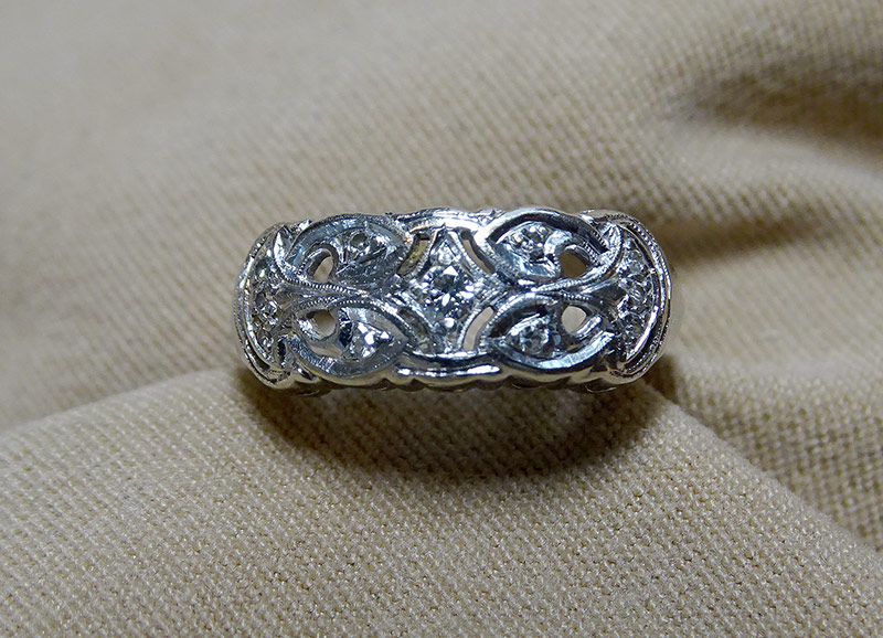 239. Diamond Ring in 14K White Gold | $177