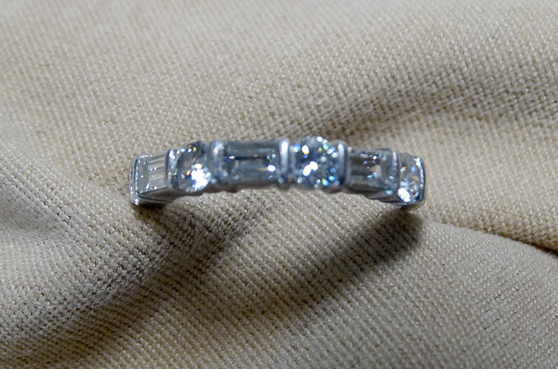 241. Diamond Band Ring in Platinum | $590