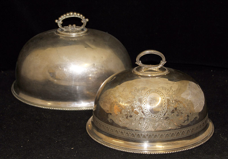 246. Two Victorian Silverplate Food Domes | $215.25