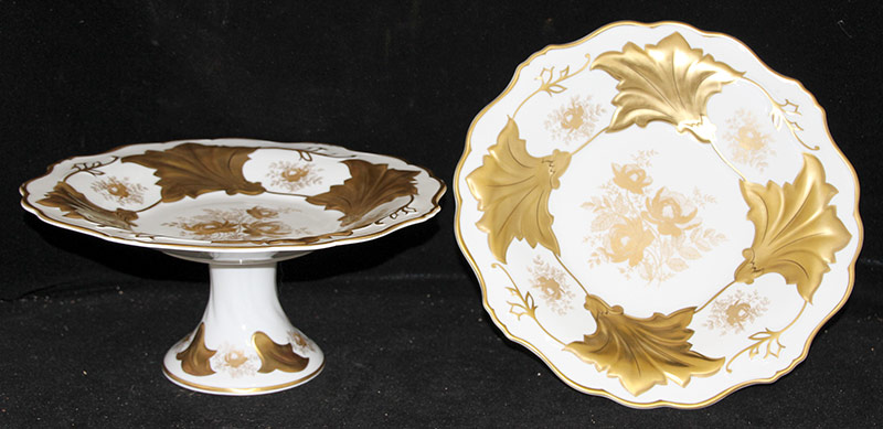 250A. Pair of Weimar Porcelain Cake Stands/Compotes | $106.20