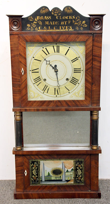 257. C. & L.C. Ives Triple Decker Shelf Clock | $206.50