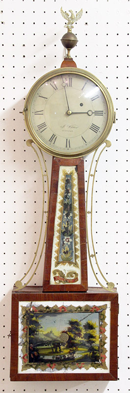 261. Federal Mahogany and Brass Banjo Clock, c. 1820 | $615.00