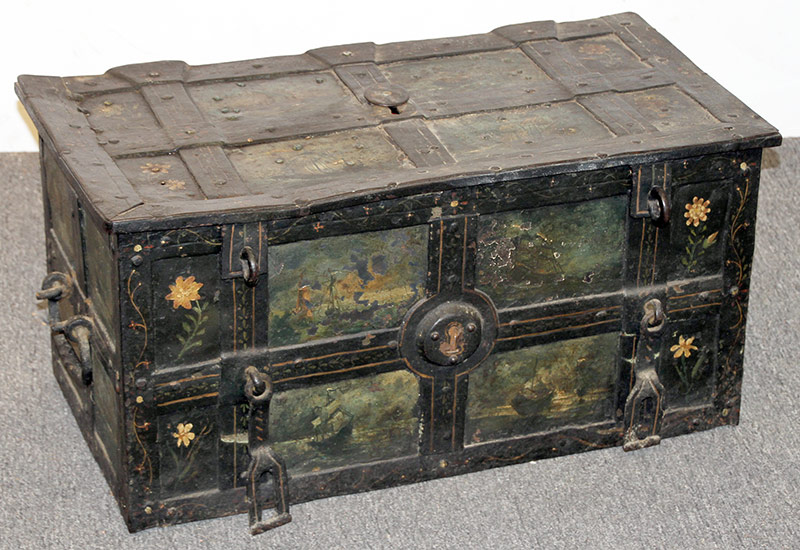 263. German Forged/Painted Iron Armada Chest | $1,770