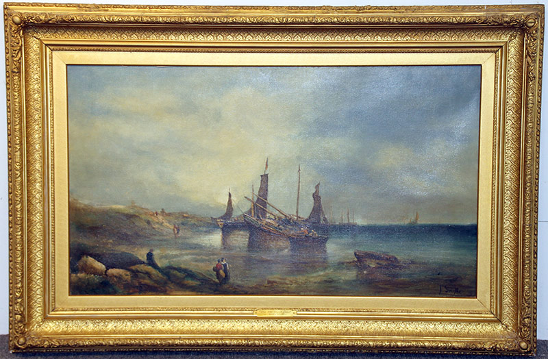 264. Attrb. Lionel Percy Smythe. Oil/Canvas, Maritime Scene | $206.50