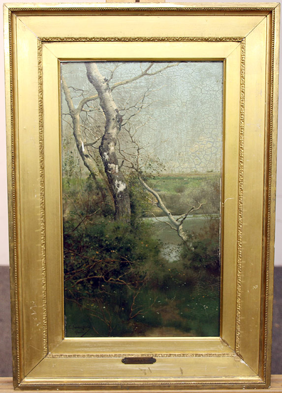 267A. Emilio Sanchez-Perrier. Oil/Panel, Landscape, Alcala | $1,845