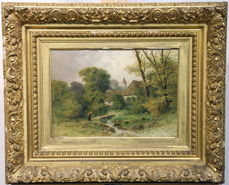 271. Wilhelm Broker. Oil/Canvas, Landscape | $236