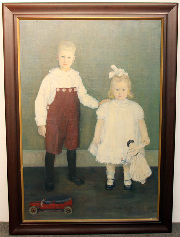 281. Mildred Burrage. Oil/Panel, Portrait of Children | $1,121