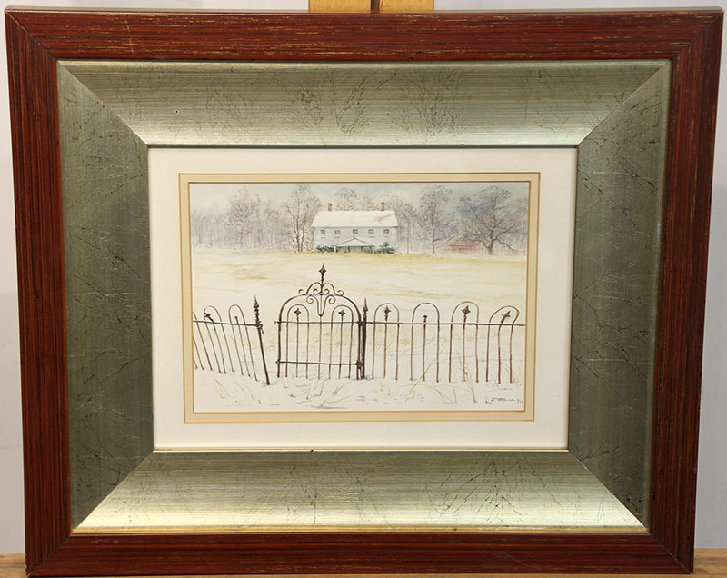 284. Reynolds Thomas. Watercolor, Iron Fence | $49.20