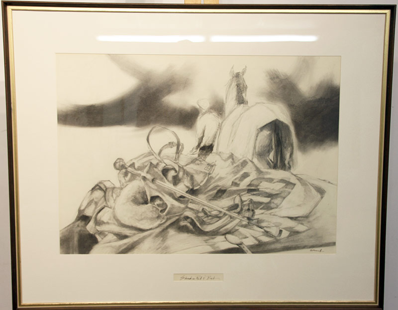 286. Ralph Scharff. Charcoal: Shadow, Roll and Bat | $147.50
