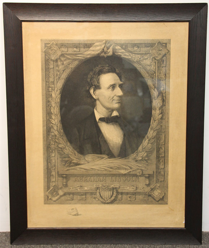 287. Max Rosenthal. Etching of Abraham Lincoln, 1908 | $147.50