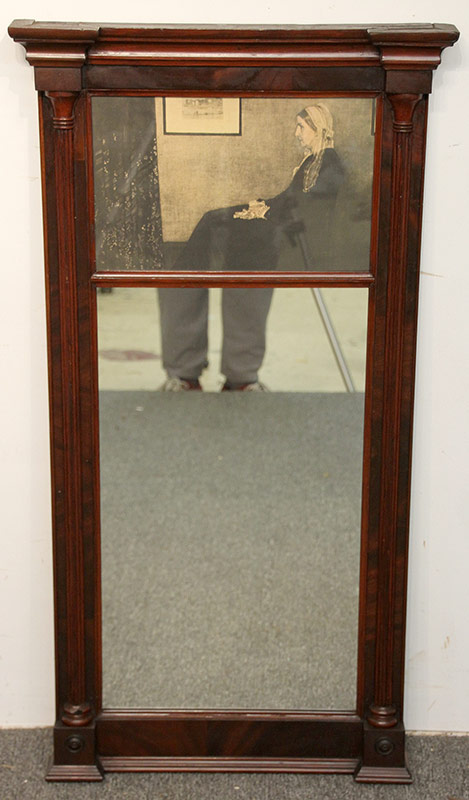 288. Philadelphia Federal Mahogany Mirror with Whistler Print | $123