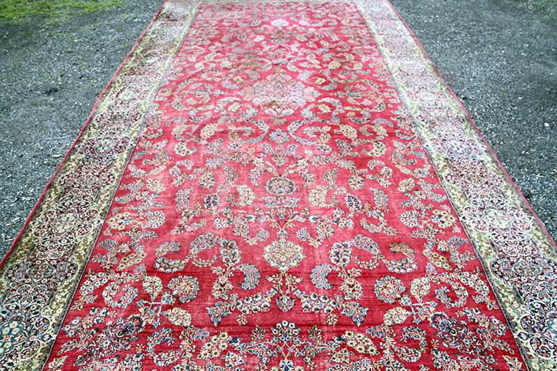 294. Kirman Palace-Size Carpet, 25ft. x 11ft 9in. | $531