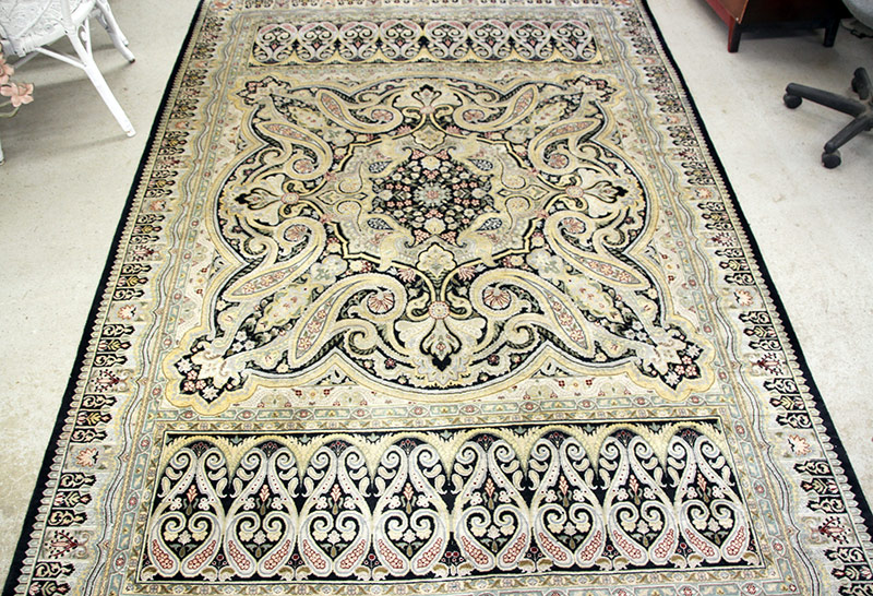 296. Tabriz-Style Area Carpet, 9ft 3in. x 6ft 2in. | $324.50
