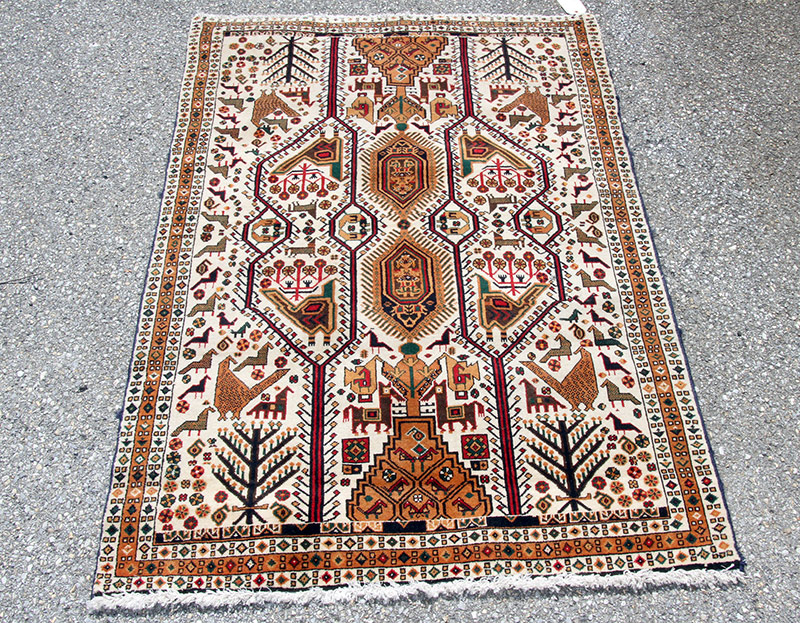 297D. Caucasian-style Area Carpet, 63in. x 43in. | $236