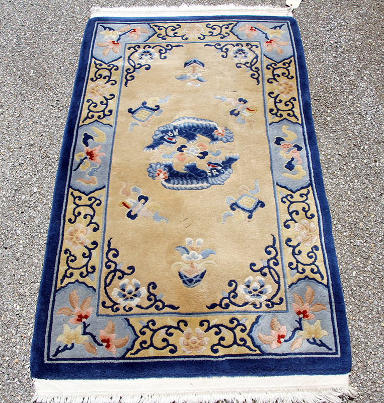 297E. Chinese Area-Size Carpet, 63in. x 36in. | $86.10