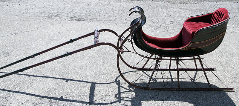 299. Antique Restored Horse-Drawn Sleigh | $649