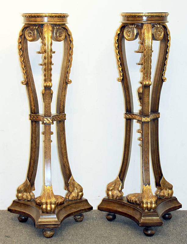 311. Pair of Maitland Smith Giltwood Pedestals | $501.50