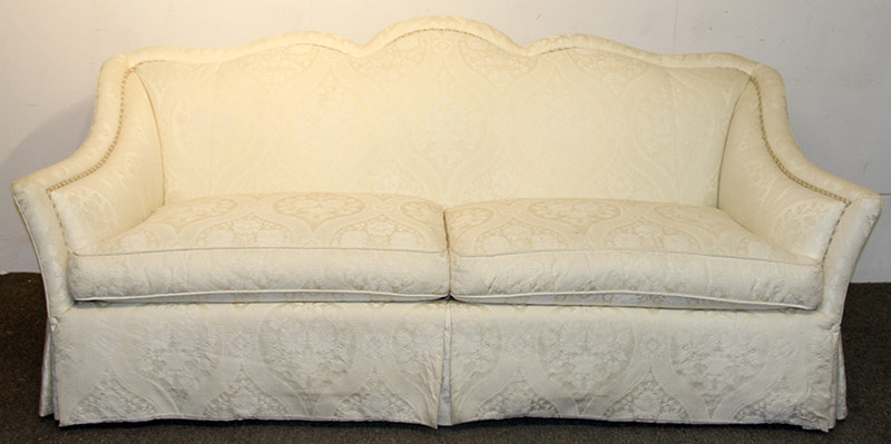 314. Heirloom Silk-upholstered Decorator Sofa | $61.50