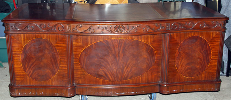 315. Henkel Harris Mahogany Executive Desk | $7,380