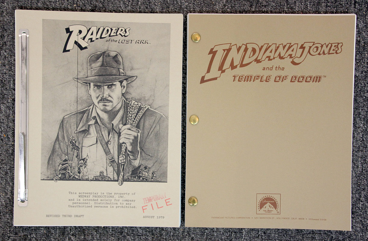 318. Two Indiana Jones/Raiders of the Lost Ark Scripts | $177