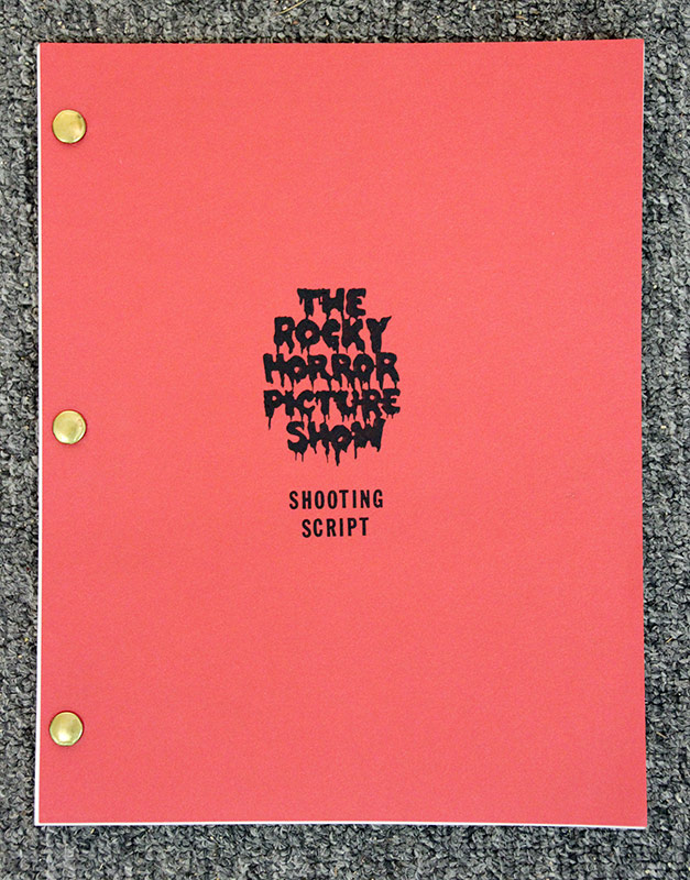 319. Shooting script for The Rocky Horror Picture Show | $265.50