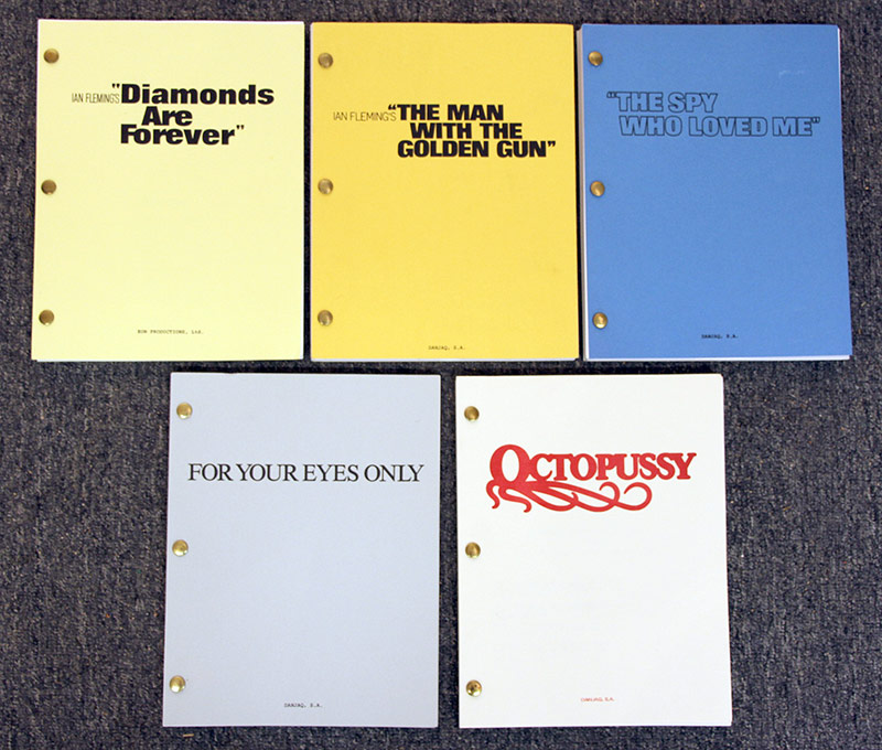 320. Five James Bond Movie Scripts | $354