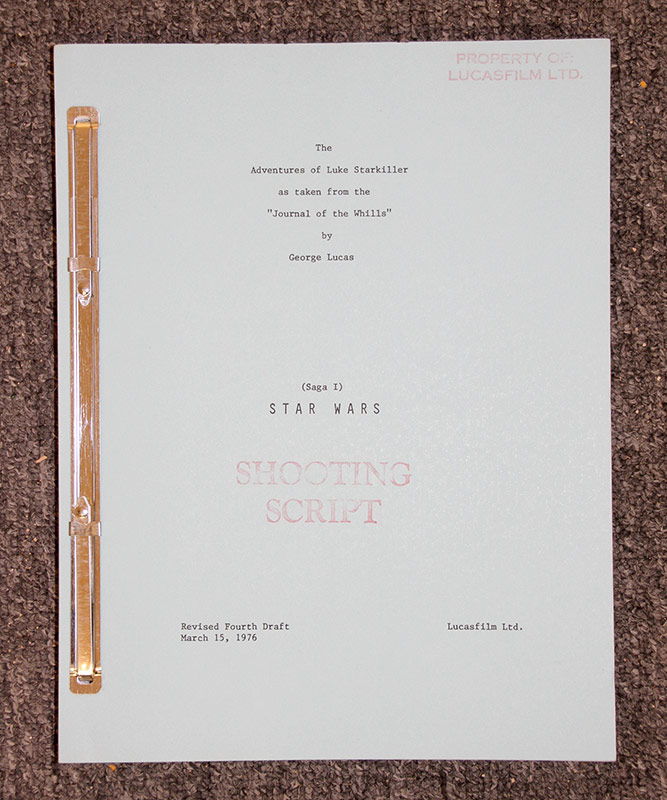 321. Adventures of Luke Starkiller Shooting Script | $1,230