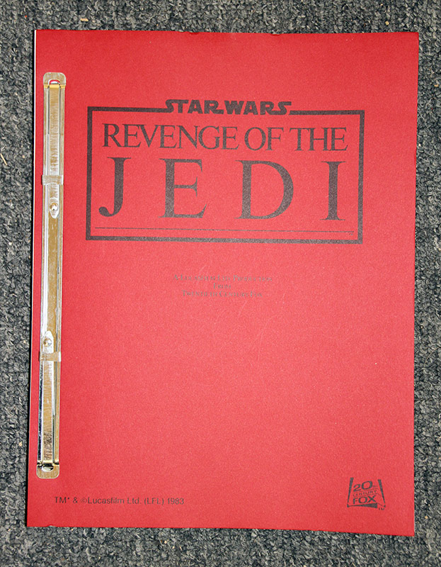 323. Star Wars: Revenge of the Jedi Script | $984