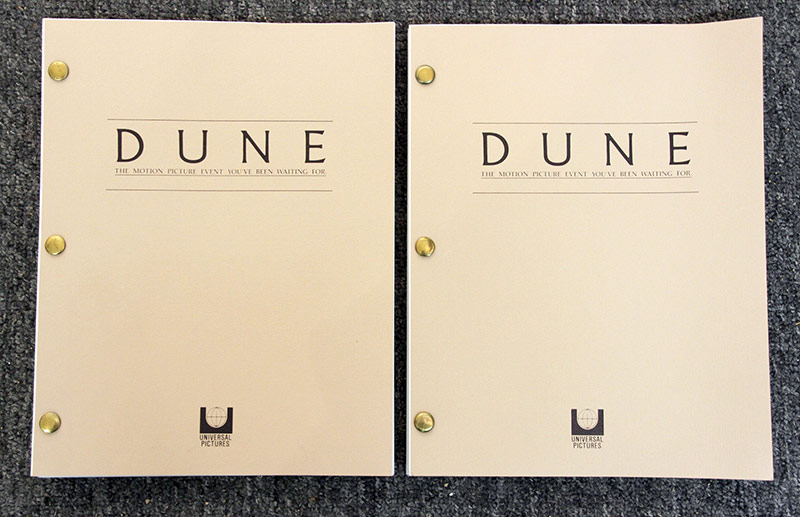 324. Two scripts for the film Dune | $23.60