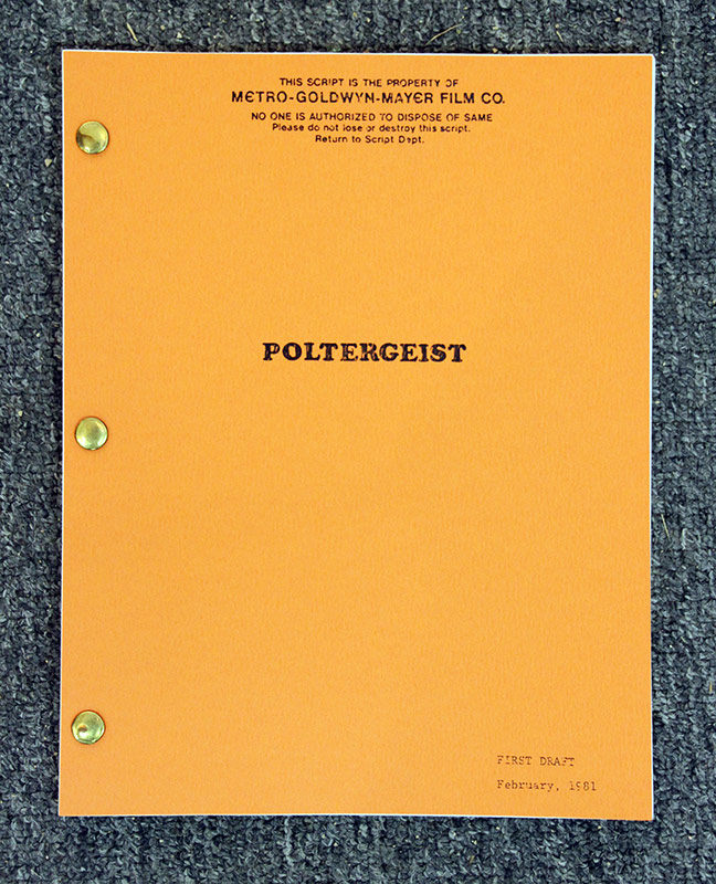 326. Script for the film Poltergeist | $35.40