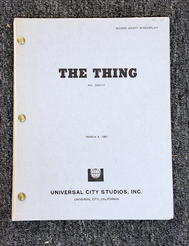 327. Screenplay for the film The Thing | $354