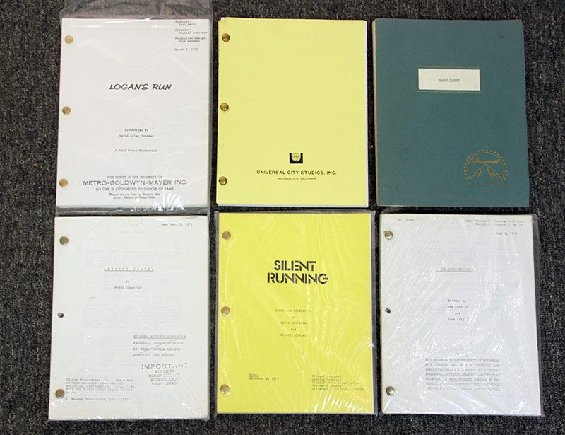 331. Lot of Six Film Scripts: Logan\'s Run, etc. | $206.50