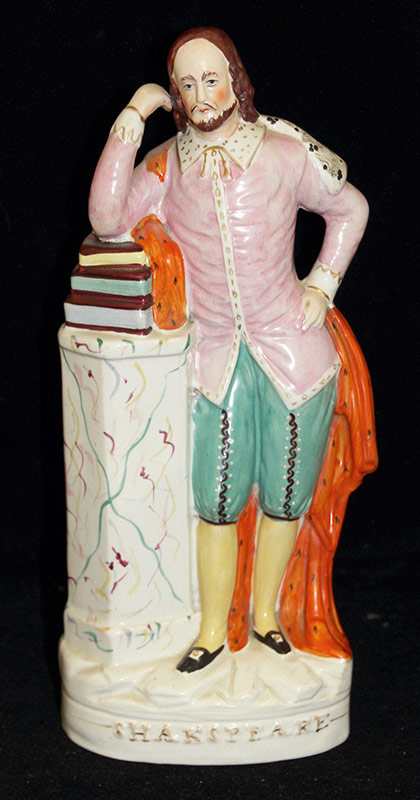 18. Staffordshire Figure of William Shakespeare. $265.50