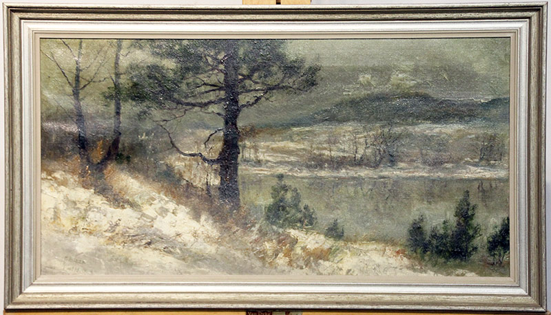 28. Mary Leisz. Oil/Canvas, Berks County, PA Landscape. $1,045.50