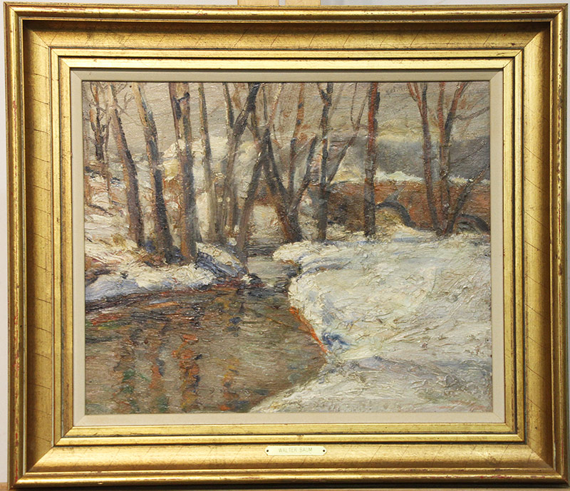 31. Walter Emerson Baum. Oil/Panel, Perkiomen Road. $861.00
