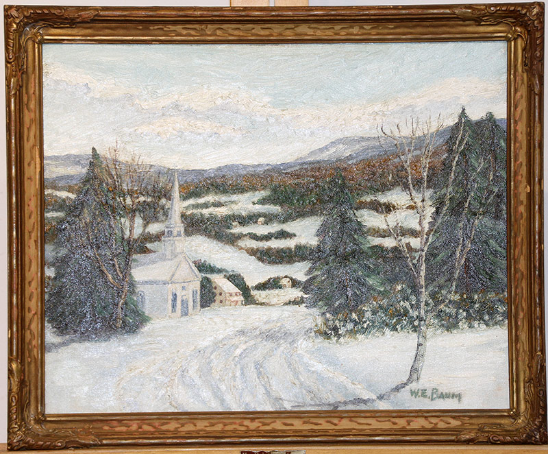 32. Walter Emerson Baum Oil/Panel, Sellersville. $1,534