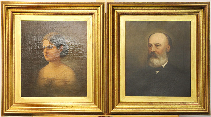 35. Frederick Spang. 2 Oils/Canvas, Man and Woman. $984