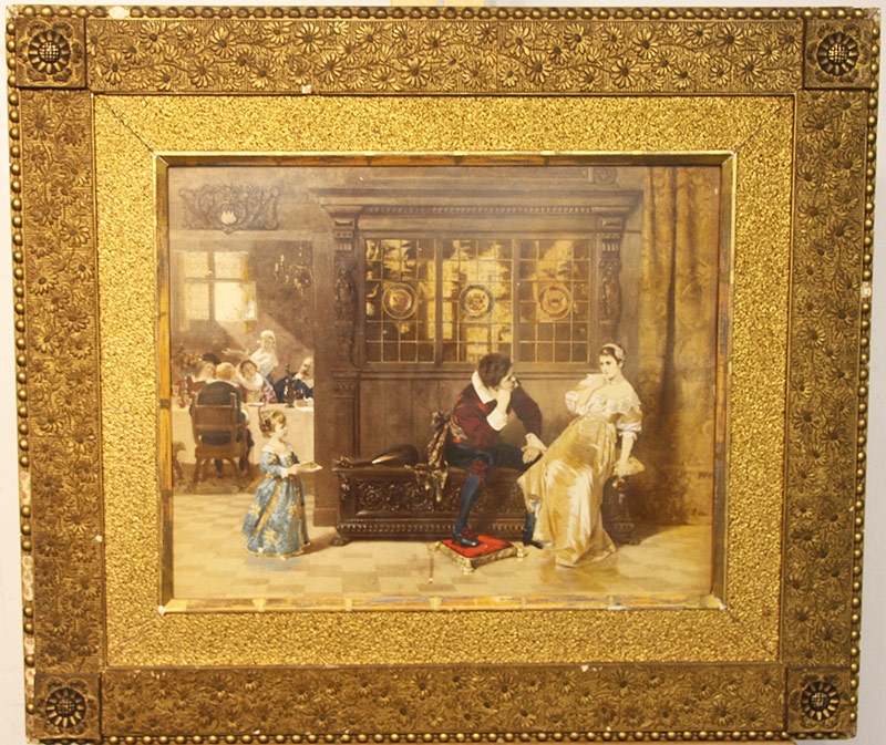 38. After Carl Rudolph Sohn. Lithogr., Interior Scene. $59