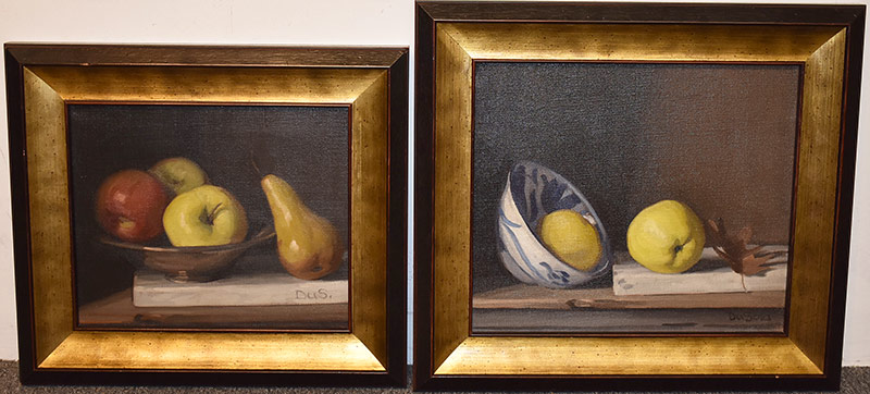 48. Paul DuSold. 2 Oils/Canvas, Still Lifes with Fruit. $324.50
