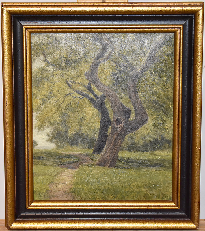 50. Albert Insley. Oil/Canvas, The Shade Tree, 1891. $522.75