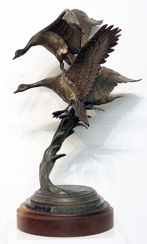 57. Geoffrey C. Smith. Bronze Grouping, Geese. $922.50