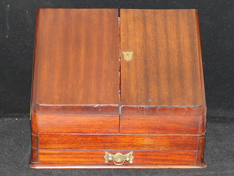 65. English Mahogany Victorian Letter Box. $147.50