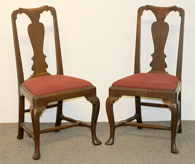 72. Pair of Queen Anne Side Chairs. $94.40