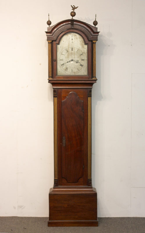 75. English Tall Case Clock, James Featherstone. $295