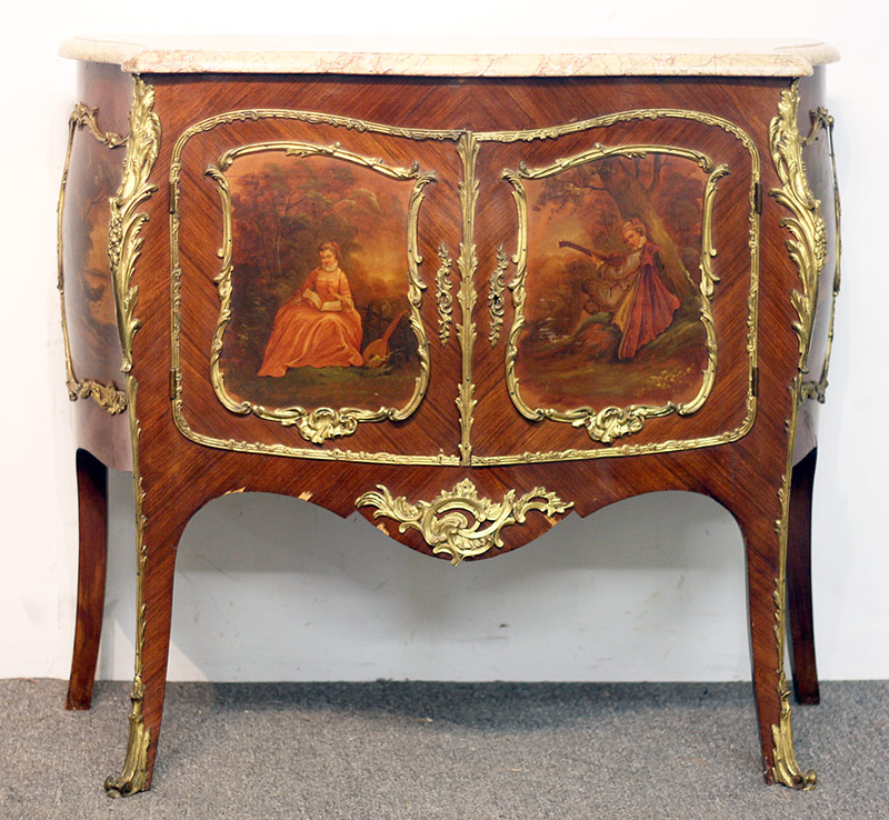 88. French Painted Commode with Ormolu Mounts. $676.50