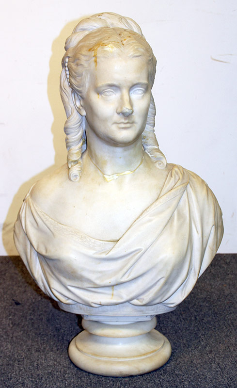 93. George Gammond Adams, Marble Bust of a Maiden. $492