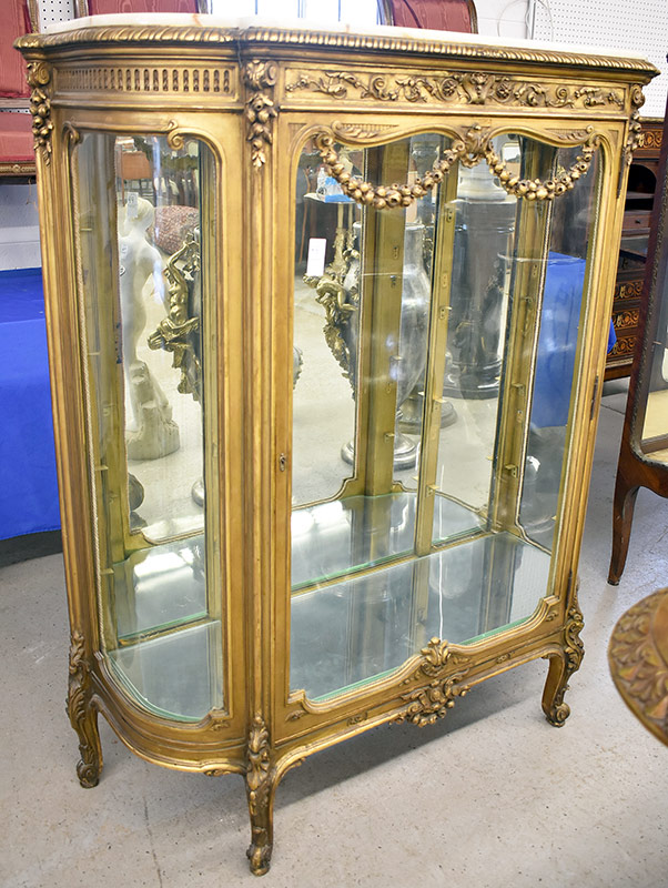 99. Louis XV-style Gilt Curio Cabinet. $522.75